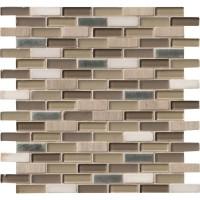 Silver Tip Pattern Blend Glass Mix Stone Metal Mosaic