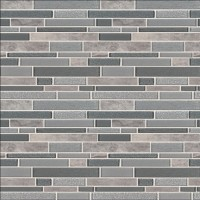 Smoky Alps Interlocking 8mm Glass Wall Tile