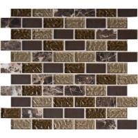 Sonoma Blend 1X2X8MM Glass Stone Mosaic