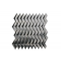 Stainless Steel 3D Herringbone Brushed Mosaic