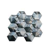 Stainless Steel 3D Interlocking 3x3 Hexagon Mosaic