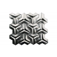 Stainless Steel 3D Interlocking Arrowhead Brushed Mosaic