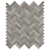 Textalia Herringbone Revaso Recycled Glass Backsplash Tile