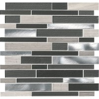 Urban Loft Interlocking Pattern 4mm Glass Wall Tile