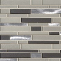 Urbanka Interlocking Pattern Glass Metal Mosaic
