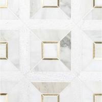 Verona Gold Geometric Pattern Mosaic Tile