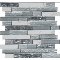 Whistler Ice Interlocking 8mm Glass Wall Tile