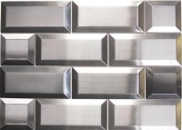 Odyssey Subway 3x6 Stainless Steel Mosaic
