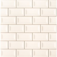Almond Glossy 3X6 Inverted Beveled Subway Tile