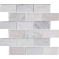 Arabescato Carrara 2x4 Honed and Beveled