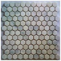 Arabescato Carrara Hexagon 1x1 Polished