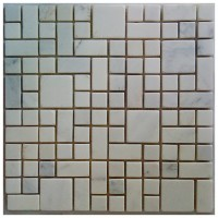 Arabescato Carrara Magic Pattern 12x12 Tumbled