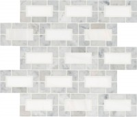 Bianco Dolomite 12x12 Polished Lynx Backsplash Mosaic