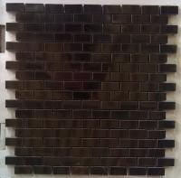 Black 12X12 Polished Marble Mosaic Tile