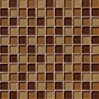Brown Blend 1x1x8MM Glass Tile