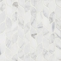 Calacatta Blanco Pattern Polished Backsplash Wall Tile