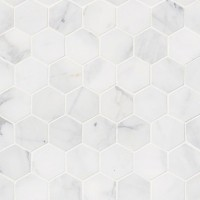 Calacatta Cressa 2X2 Hexagon Pattern Honed Mosaic