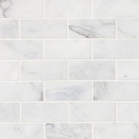 Calacatta Cressa 2X4 Subway Pattern Honed Mosaic