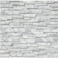 Calacatta Cressa 6x24 3D Honed Ledger Panel