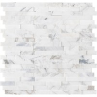 Calacatta Cressa Interlocking 3D Peel and Stick Wall Tile