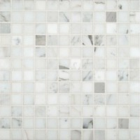 Calacatta Gold 1x1 Polished Marble Mosaic