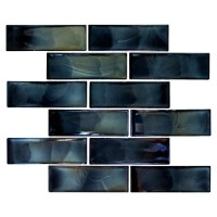 Carbonita 2X6 Glossy Glass Subway Tile