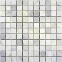 Carrara White 1x1 Polished Marble Mosaic
