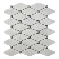 Carrara White 12X11 Octagon Mosaic