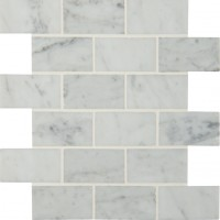 Carrara White 2x4 Polished Mosaic