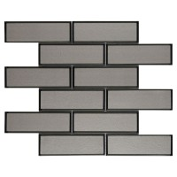 Champagne 2x6x8 Glossy Bevel Glass Subway Tile