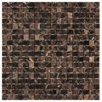 Spanish Emperador Dark 5/8x5/8 Polished Marble Mosaic
