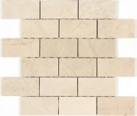 Cream Marfil 2x4 Polished Mosaic