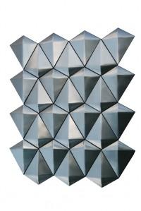 Diamond Stainless Steel 3D Interlocking Brushed Mosaic