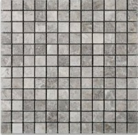 Temple Gray 1x1 Polished Marble Mosaic