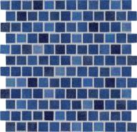 Hawaiian Blue 1X1 Staggered Glass Mosaic