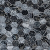 Henley 2x2 Hexagon Multi Finish Mosaic