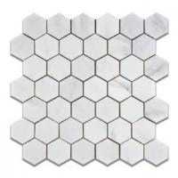 Oriental White 2x2 Hexagon Polished Mosaic
