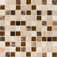 Ibiza Blend 1X1X8mm Glass Stone Mosaic