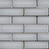 Ice Bevel Subway 2X6X8 Glass Mosaic Tile