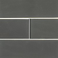 Metallic Gray 4x12 Glossy Glass Subway Tile