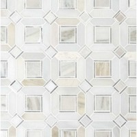 Milano Silver Geometric Pattern Backsplash Mosaic Tile