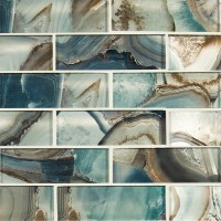 Night Sky 2x6 Glass Backsplash Subway Tile
