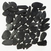 Obsidian 12X12 Interlocking Designer Flat Collection Pebble Tile