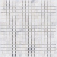 Oriental White 1x1Polished Marble Mosaic