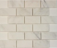 Oriental White 2x4 Brick Polished Mosaic