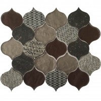 Panache Rain Drop Pattern Velvet Glass Mosaic