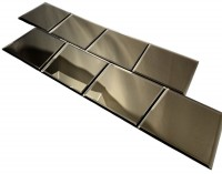 Reflections Gold 8X8 Polished Glass Tile