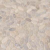 Rio Lago Sliced Ash Tumbled Marble Pebble