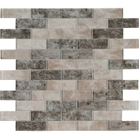 Savoy Interlocking 2X6 Glossy Glass Subway Tile