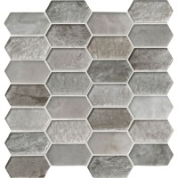 Savoy Picket Pattern Inkjet Glass Mosaic
